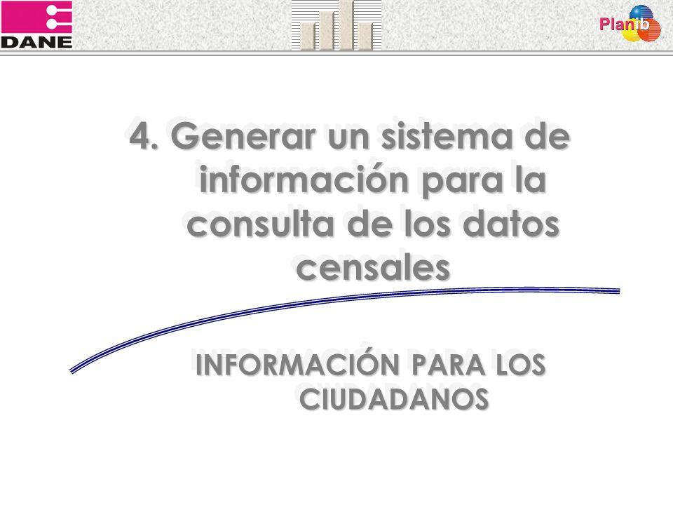 4. Generar un sistema de información para la consulta de los datos censales INFORMACIÓN PARA LOS CIUDADANOS