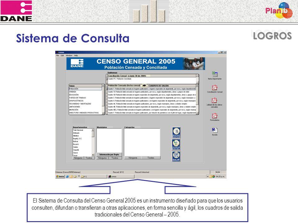 El Sistema de Consulta del Censo General 2005 es un instrumento diseñado para que los usuarios consulten, difundan o transfieran a otras aplicaciones,