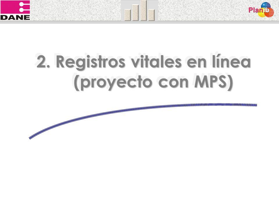 2. Registros vitales en línea (proyecto con MPS)