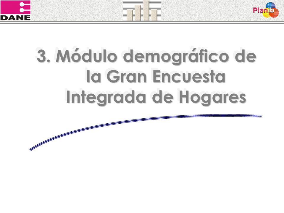 3. Módulo demográfico de la Gran Encuesta Integrada de Hogares