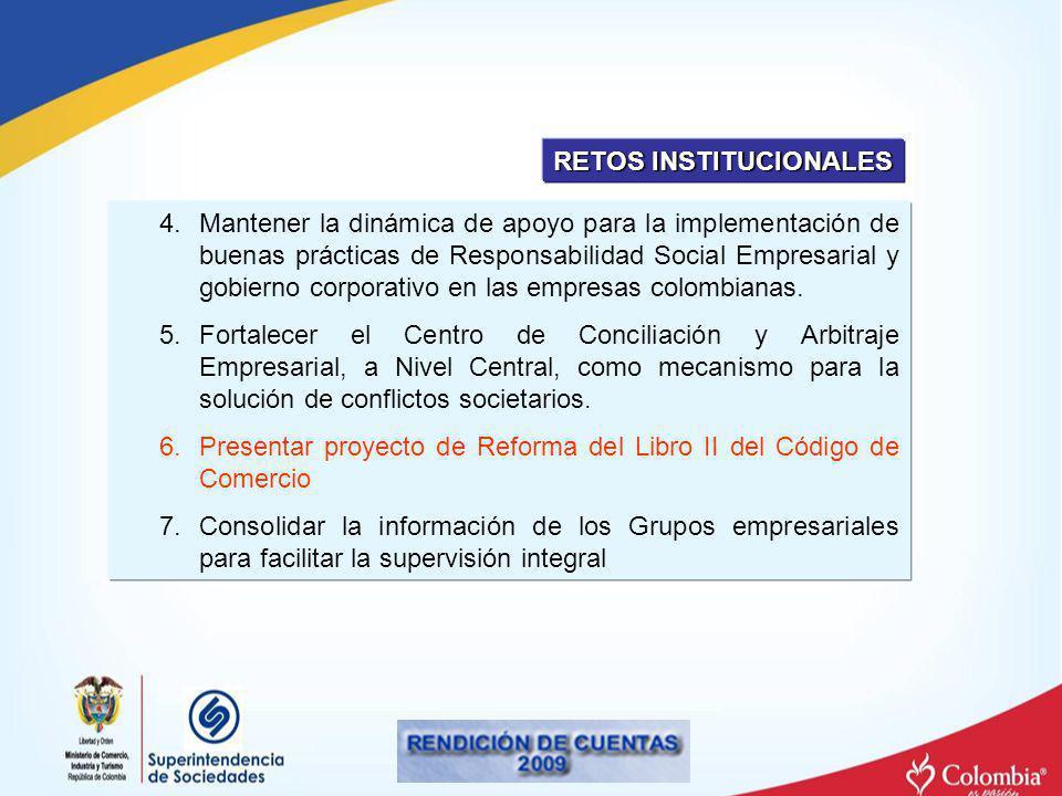 4.Mantener la dinámica de apoyo para la implementación de buenas prácticas de Responsabilidad Social Empresarial y gobierno corporativo en las empresa
