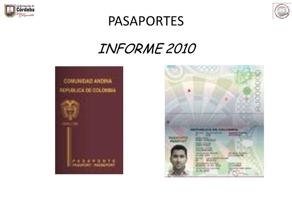 PASAPORTES INFORME 2010
