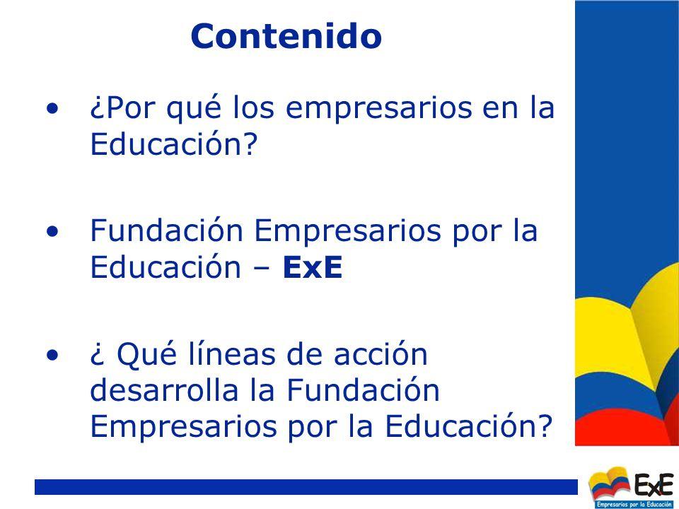Contenido ¿Por qué los empresarios en la Educación.