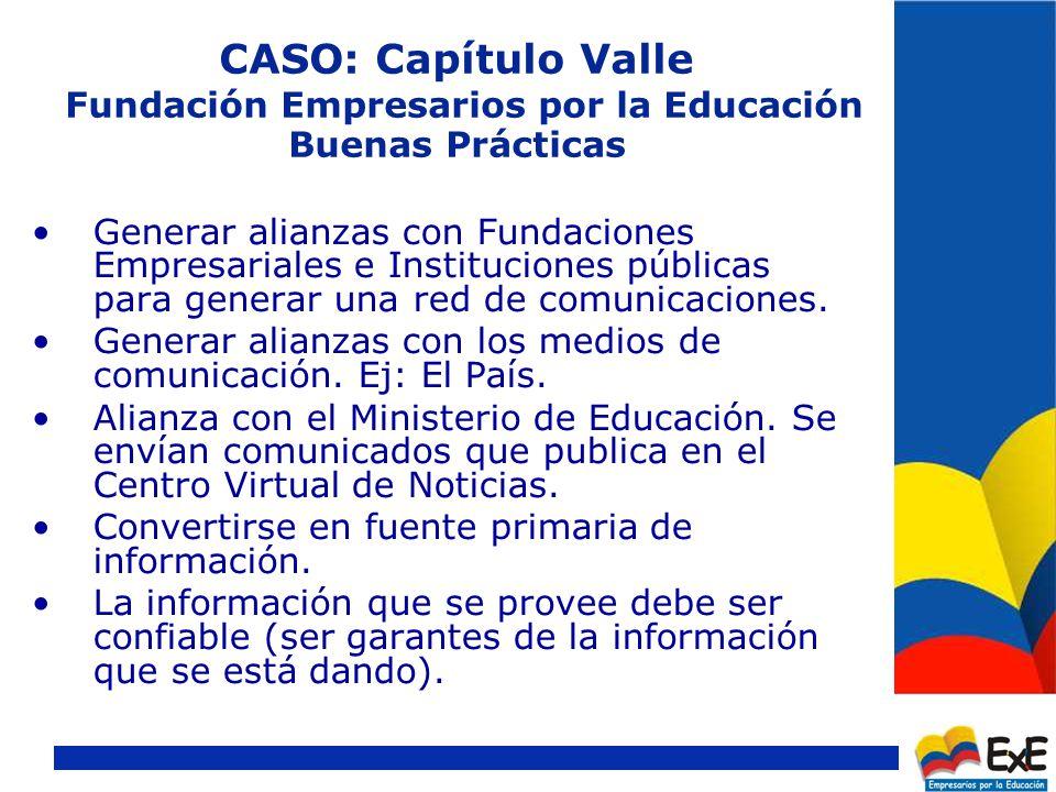CASO: Capítulo Valle Fundación Empresarios por la Educación Alianza con Comisión Vallecaucana para la Educación.