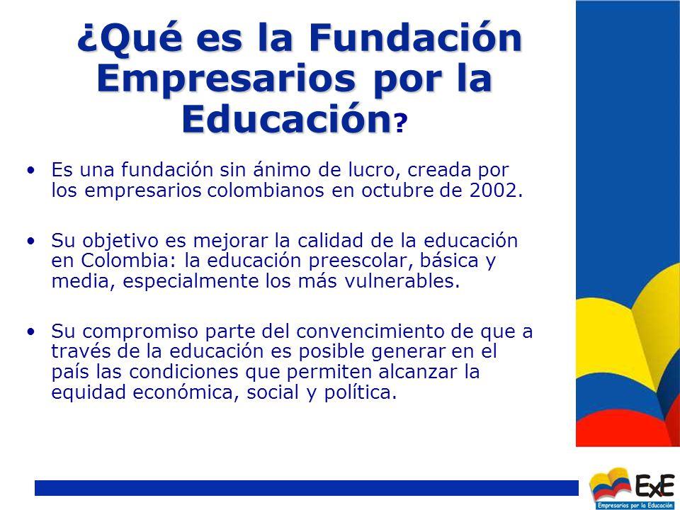 ¿Qué es la Fundación Empresarios por la Educación ¿Qué es la Fundación Empresarios por la Educación .