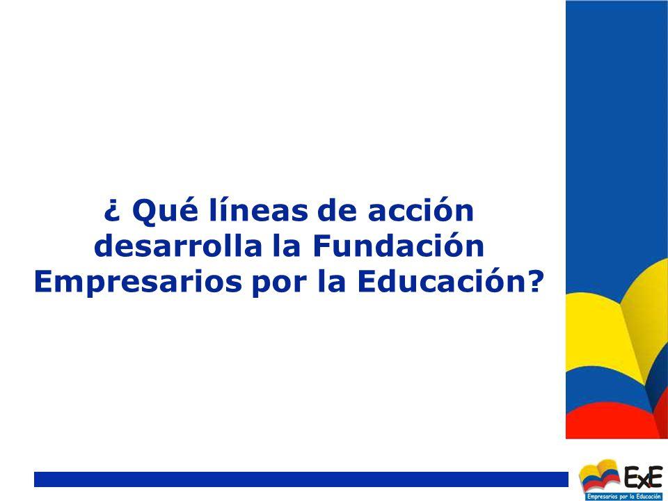 ¿ Qué líneas de acción desarrolla la Fundación Empresarios por la Educación?