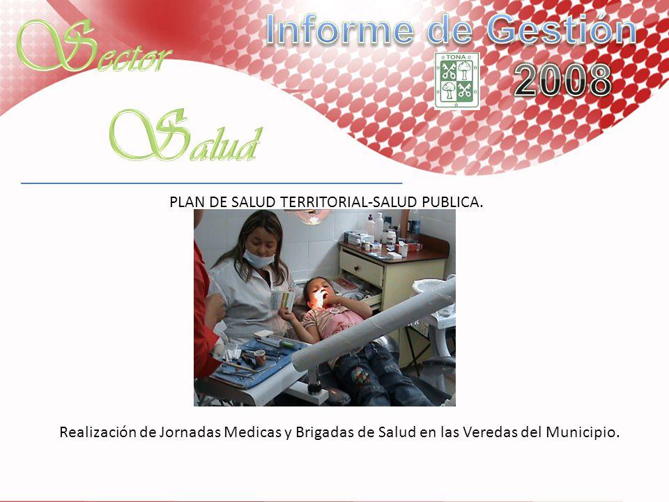 PLAN DE SALUD TERRITORIAL-SALUD PUBLICA. Realización de Jornadas Medicas y Brigadas de Salud en las Veredas del Municipio.