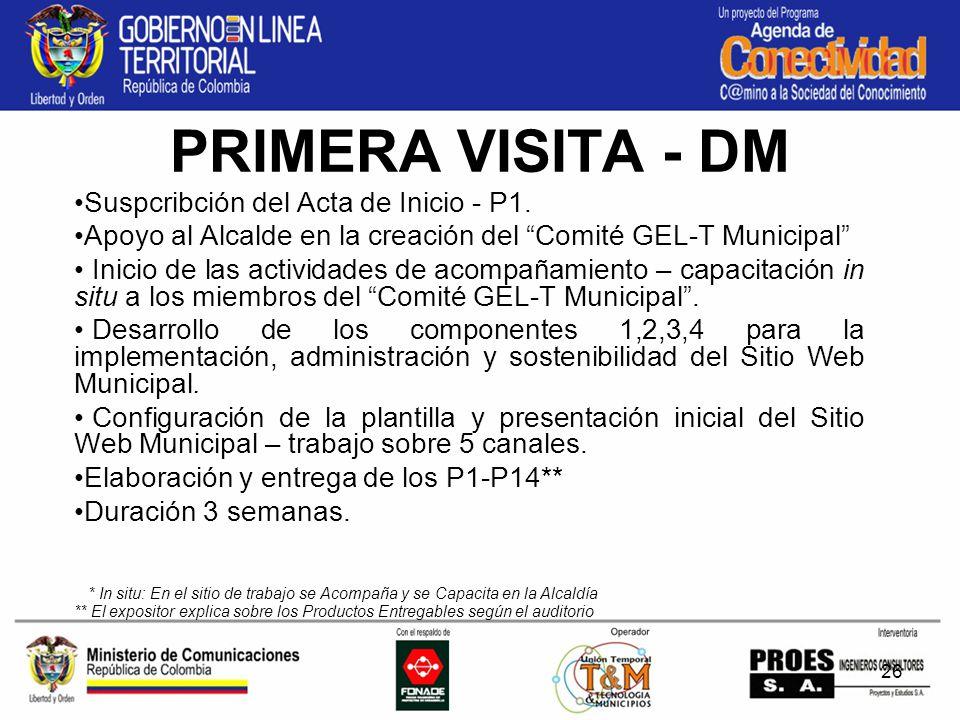 26 PRIMERA VISITA - DM Suspcribción del Acta de Inicio - P1.