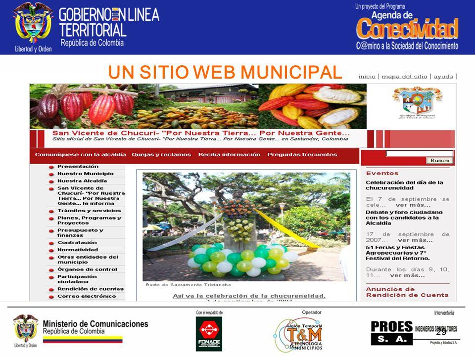 29 UN SITIO WEB MUNICIPAL