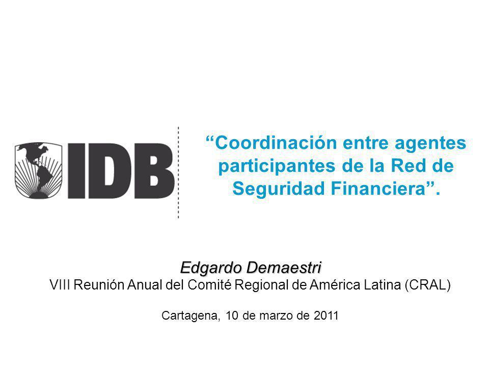 Coordinación entre agentes participantes de la Red de Seguridad Financiera. Edgardo Demaestri VIII Reunión Anual del Comité Regional de América Latina