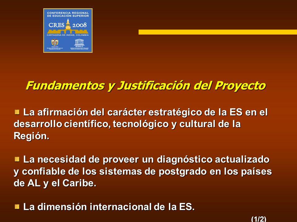 Fundamentos y Justificación del Proyecto La afirmación del carácter estratégico de la ES en el desarrollo científico, tecnológico y cultural de la Reg