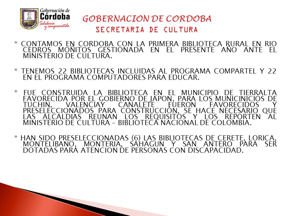 * CONTAMOS EN CORDOBA CON LA PRIMERA BIBLIOTECA RURAL EN RIO CEDROS MOÑITOS GESTIONADA EN EL PRESENTE AÑO ANTE EL MINISTERIO DE CULTURA.