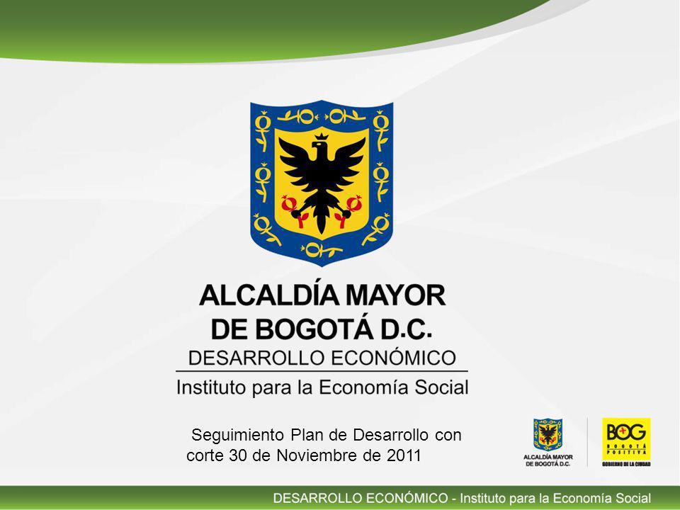 Seguimiento Plan de Desarrollo con corte 30 de Noviembre de 2011