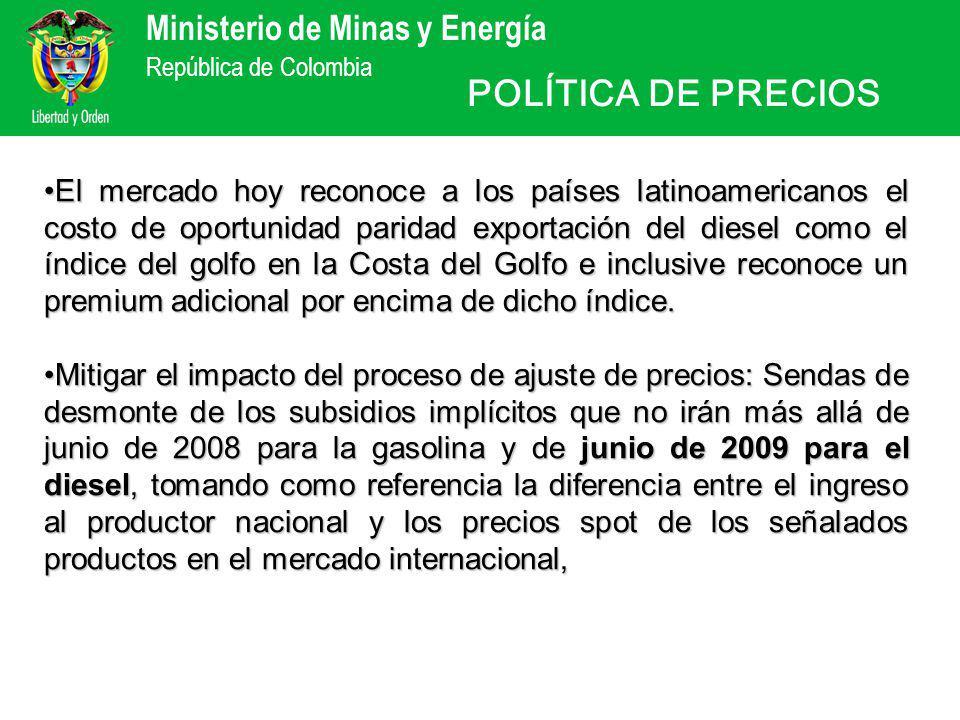 Ministerio de Minas y Energía República de Colombia ¡ Muchas gracias.