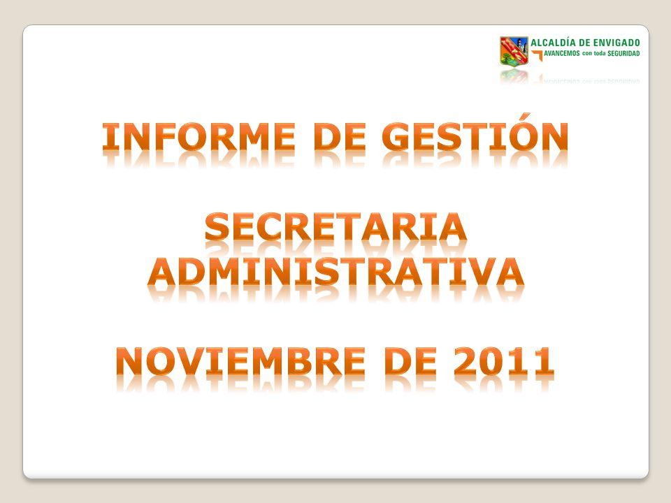 ObjetoCubrimientoSecretaria Administrativa Otras Dependecias Ejecución 2011 Mtto.