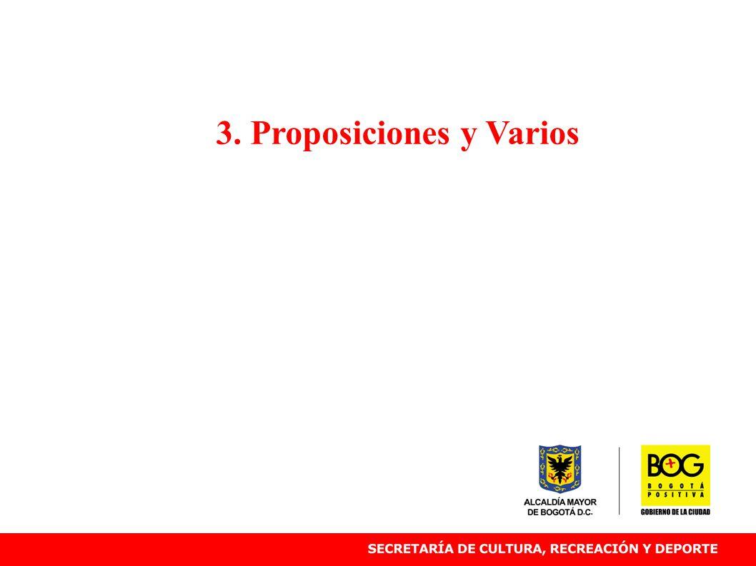 3. Proposiciones y Varios