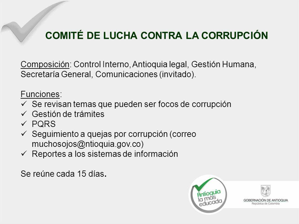 Ejemplo para cada riesgo Yo me intereso por conocer mis deberes como servidor público para no incurrir en faltas por omisión Ayúdanos a prevenir la corrupción al interior de la administración… Comité anticorrupción.