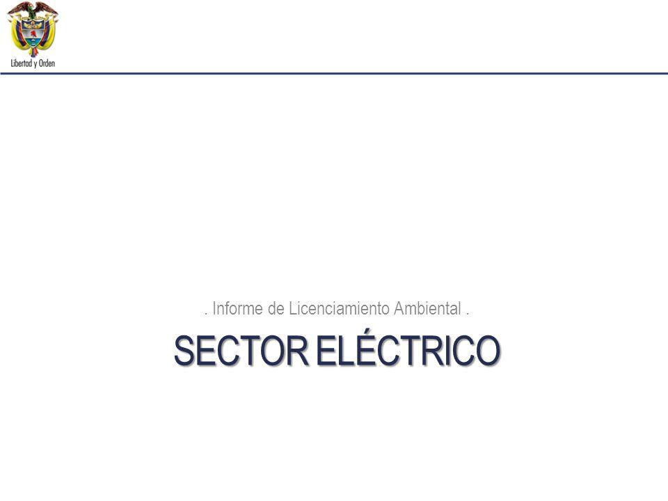 SECTOR ELÉCTRICO. Informe de Licenciamiento Ambiental.