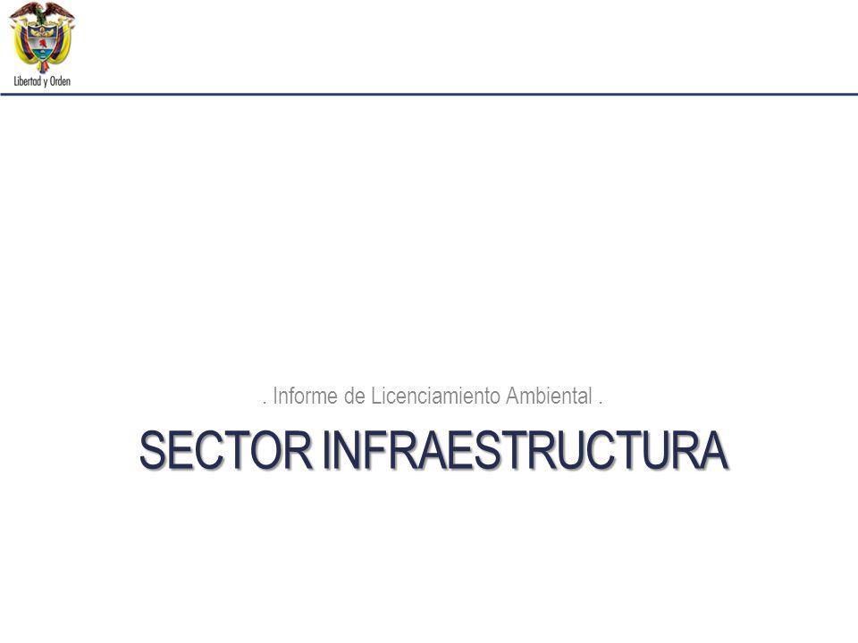 SECTOR INFRAESTRUCTURA. Informe de Licenciamiento Ambiental.