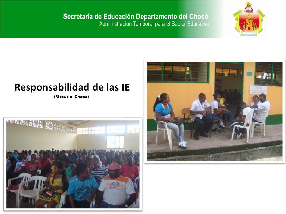 Responsabilidad de las IE (Riosucio- Chocó)