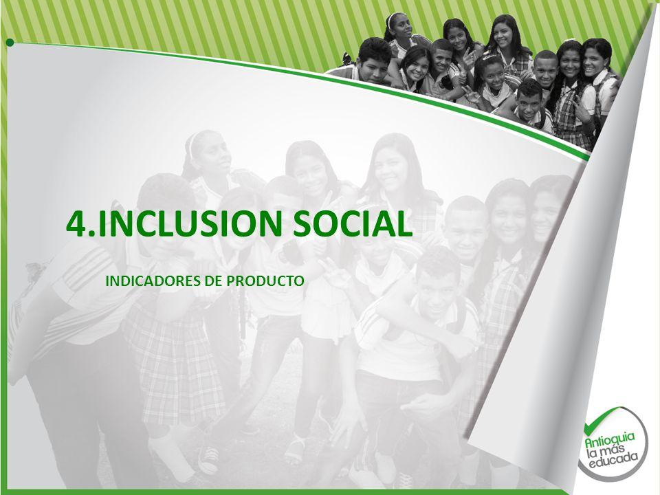 4.INCLUSION SOCIAL INDICADORES DE PRODUCTO