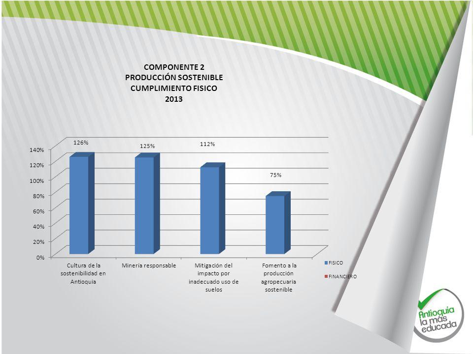 COMPONENTE 2 PRODUCCIÓN SOSTENIBLE CUMPLIMIENTO FISICO 2013