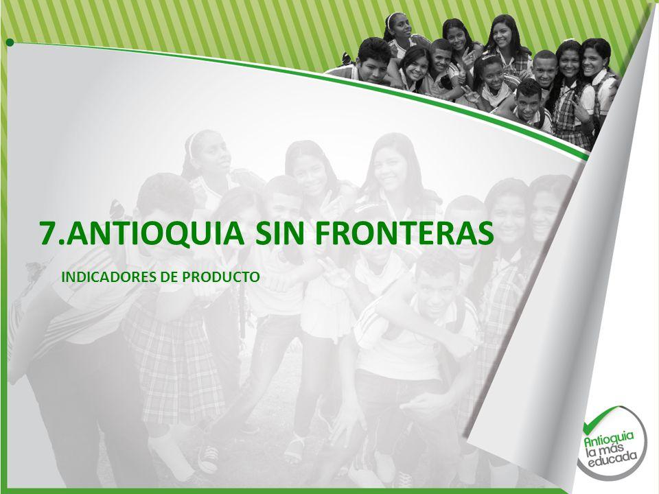 7.ANTIOQUIA SIN FRONTERAS INDICADORES DE PRODUCTO