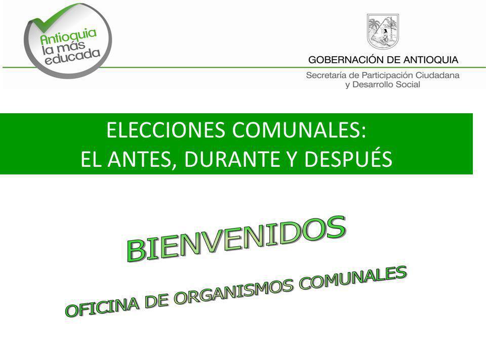 ELECCIONES COMUNALES: EL ANTES, DURANTE Y DESPUÉS