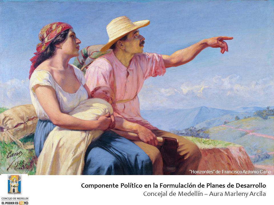 Componente Político en la Formulación de Planes de Desarrollo Concejal de Medellín – Aura Marleny Arcila Horizontes de Francisco Antonio Cano