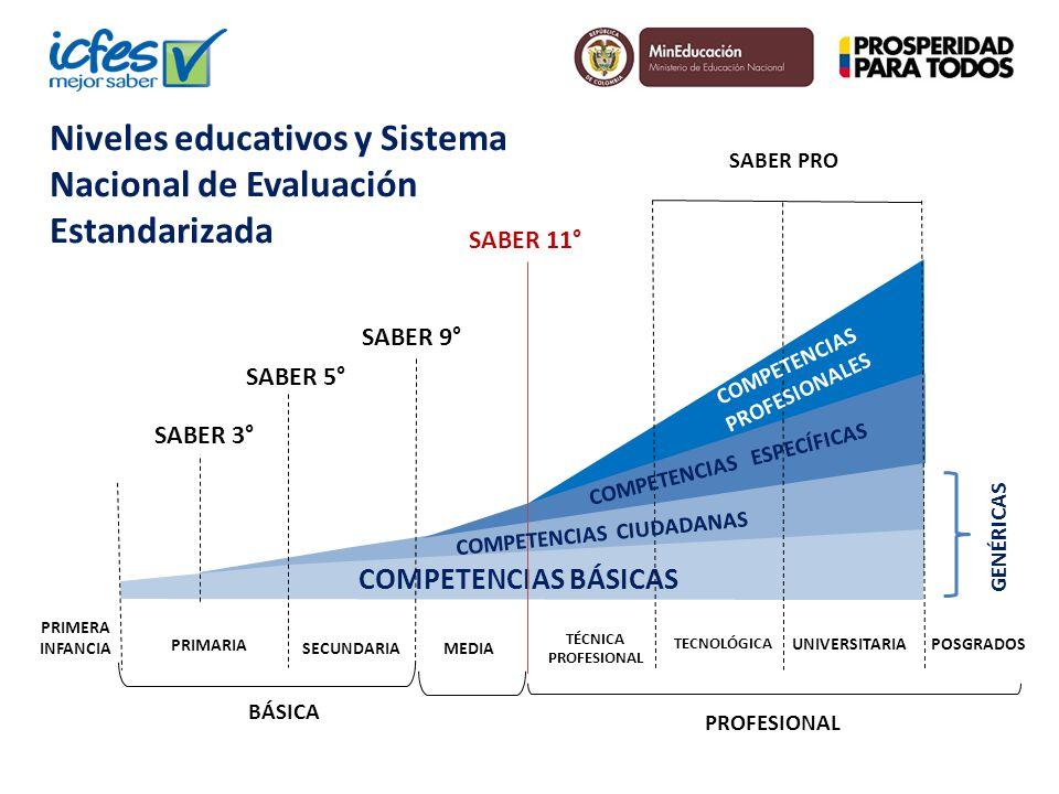 PROFESIONAL BÁSICA SECUNDARIAMEDIA TÉCNICA PROFESIONAL TECNOLÓGICA UNIVERSITARIA COMPETENCIAS BÁSICAS SABER 11° SABER PRO COMPETENCIAS PROFESIONALES C