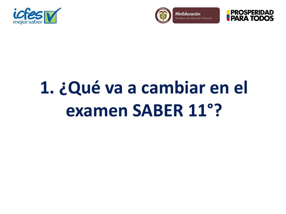 A partir del 3 de agosto de 2014 se empezará a aplicar un examen de Estado SABER 11º que tendrá una nueva estructura.