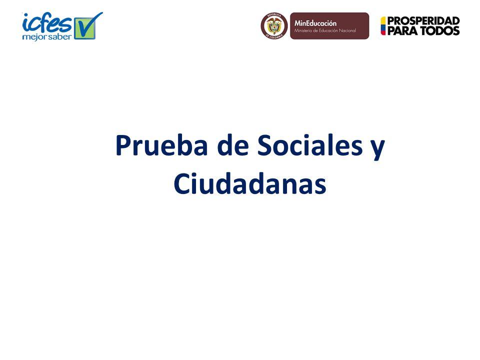 Prueba de Sociales y Ciudadanas