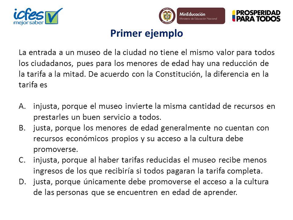 La entrada a un museo de la ciudad no tiene el mismo valor para todos los ciudadanos, pues para los menores de edad hay una reducción de la tarifa a l