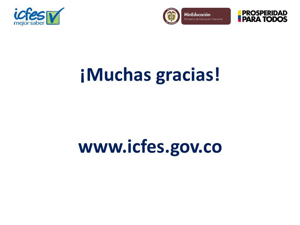¡Muchas gracias! www.icfes.gov.co