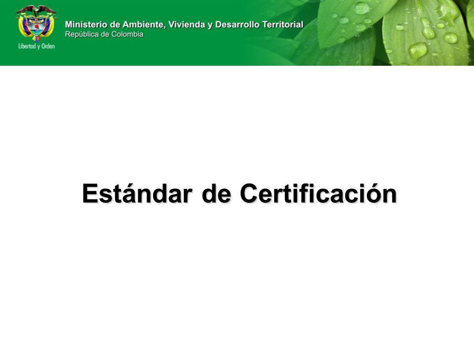 Estándar de Certificación