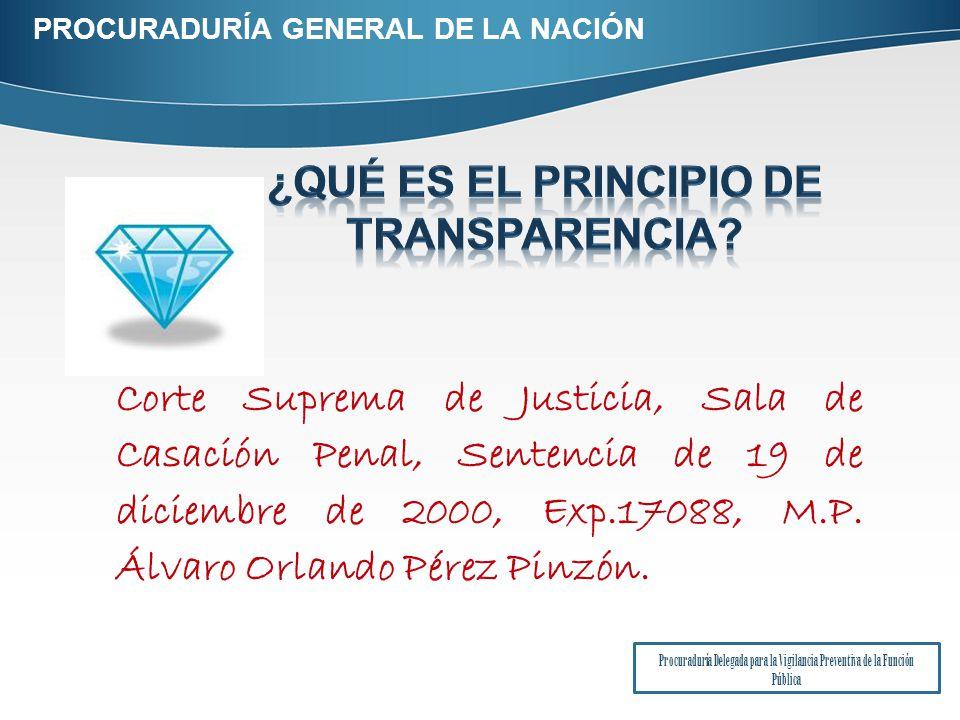 Corte Suprema de Justicia, Sala de Casación Penal, Sentencia de 19 de diciembre de 2000, Exp.17088, M.P.