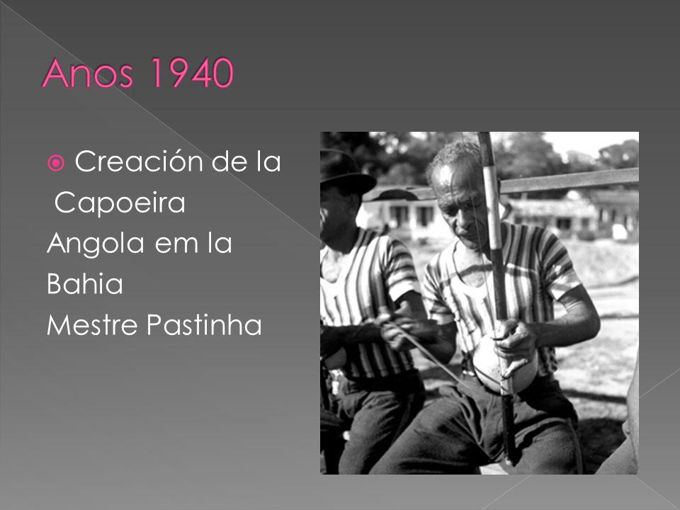 Creación de la Capoeira Angola em la Bahia Mestre Pastinha