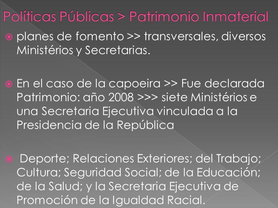 planes de fomento >> transversales, diversos Ministérios y Secretarias.