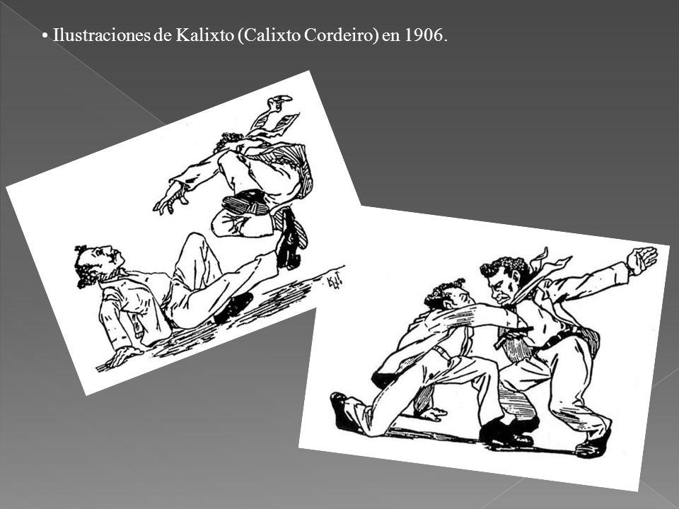 Ilustraciones de Kalixto (Calixto Cordeiro) en 1906.