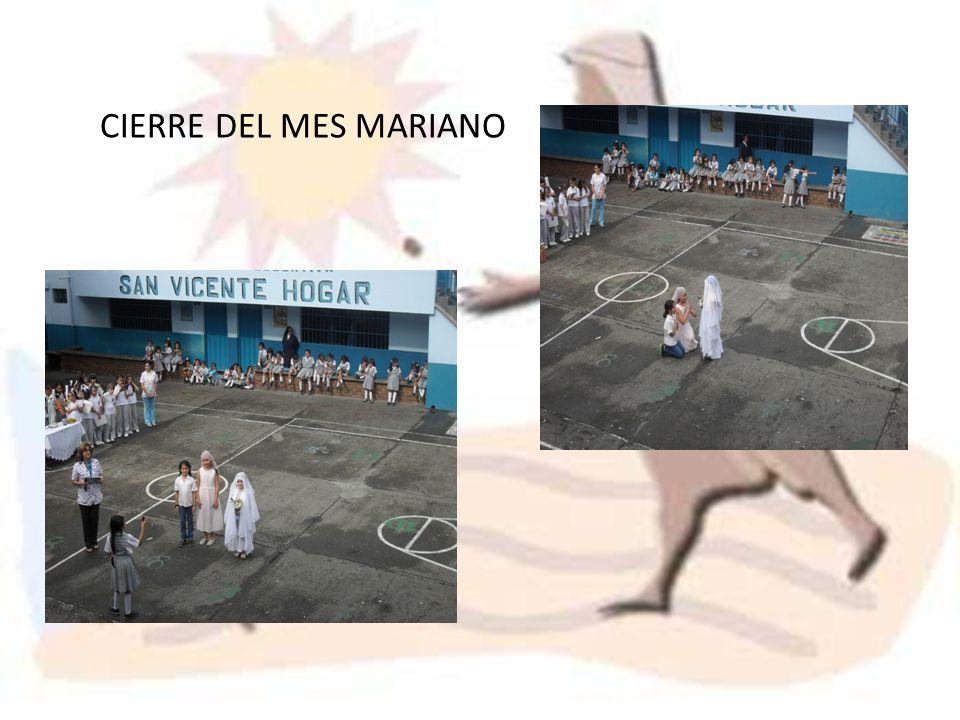 CIERRE DEL MES MARIANO