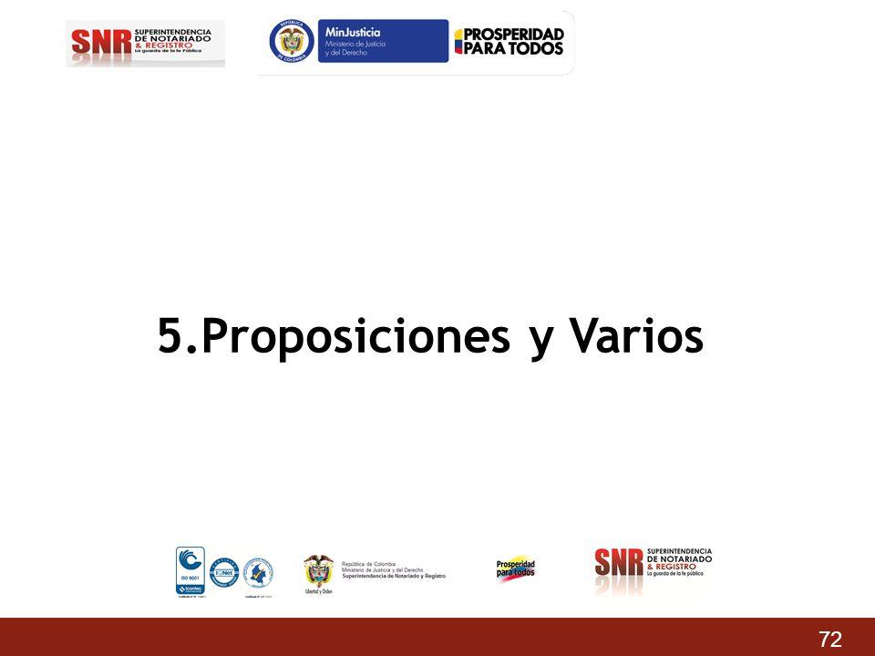 5.Proposiciones y Varios 72