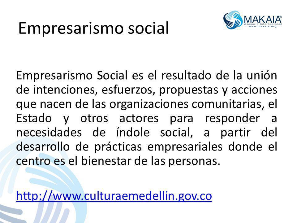 Empresarismo social Empresarismo Social es el resultado de la unión de intenciones, esfuerzos, propuestas y acciones que nacen de las organizaciones c