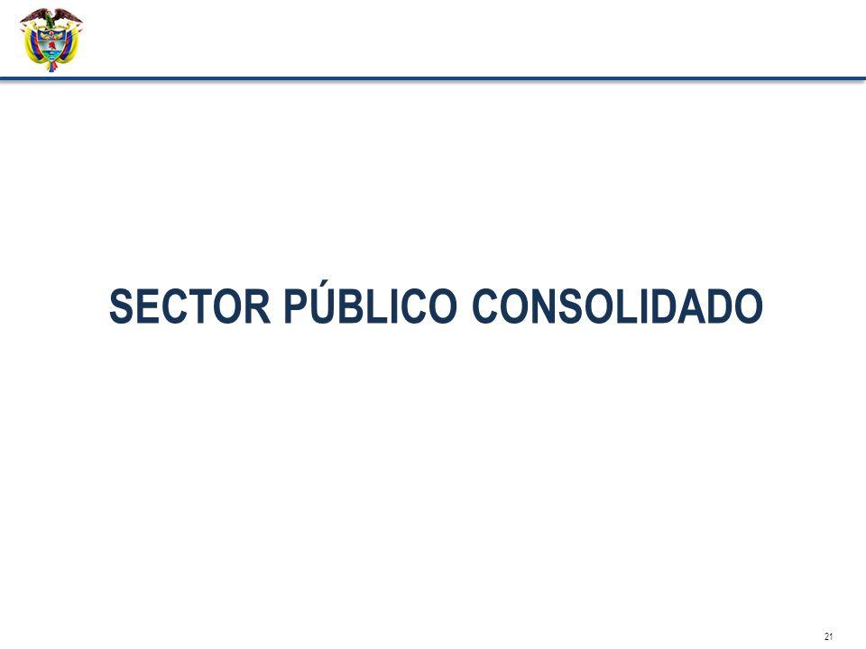 SECTOR PÚBLICO CONSOLIDADO 21