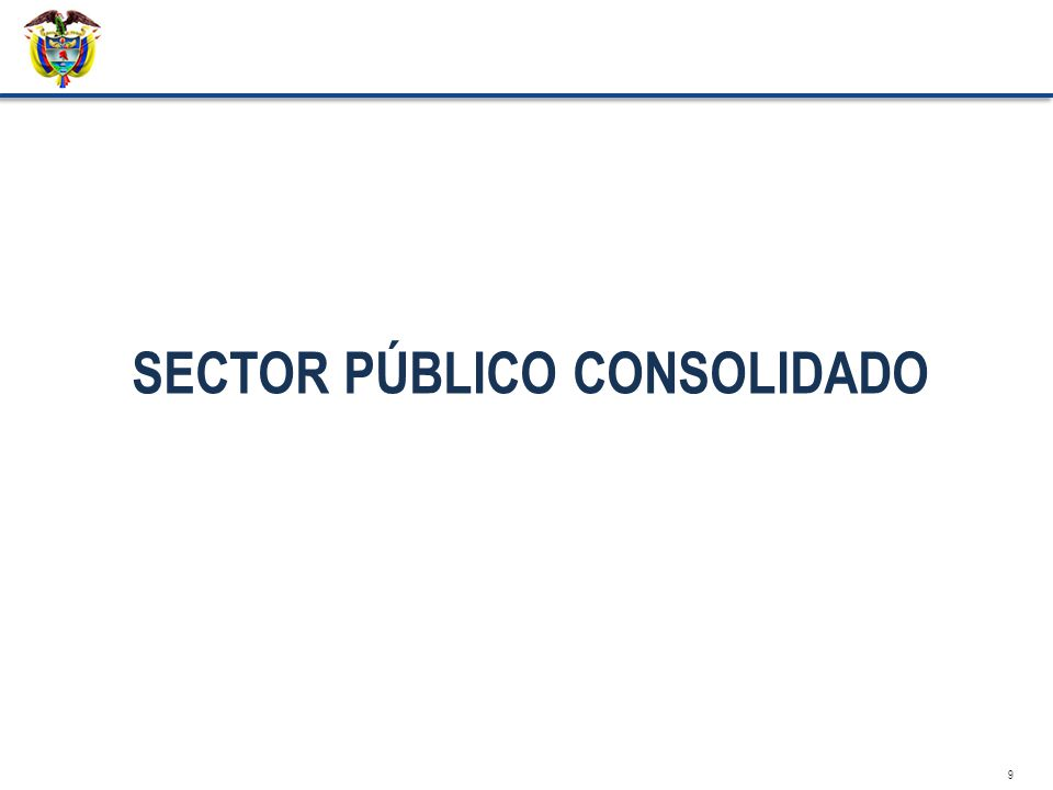 SECTOR PÚBLICO CONSOLIDADO 9