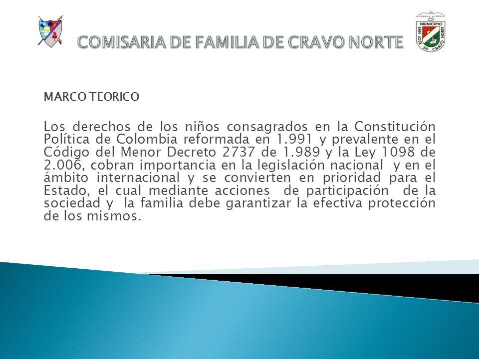 INFORME DE GESTIÓN COMISARIA DE FAMILIA Cravo Norte, 23 de Abril de 2.010