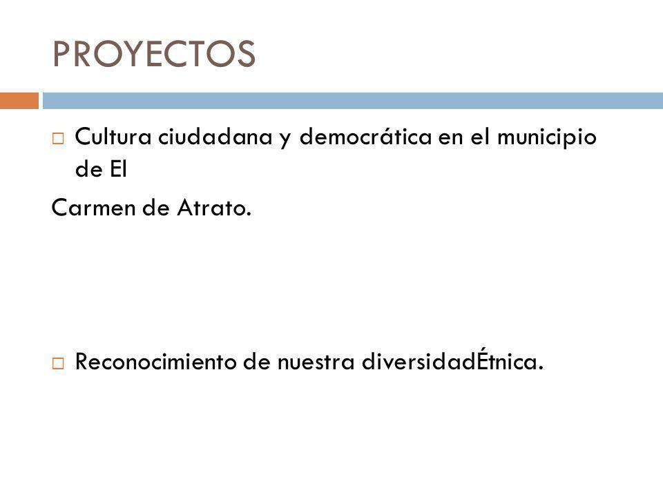 PROGRAMAS Impulsando la cultura y la identidad para el desarrollo del municipio Convertir la cultura en un activo, para que la gente de El Carmen pued
