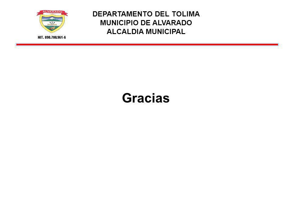 DEPARTAMENTO DEL TOLIMA MUNICIPIO DE ALVARADO ALCALDIA MUNICIPAL Gracias
