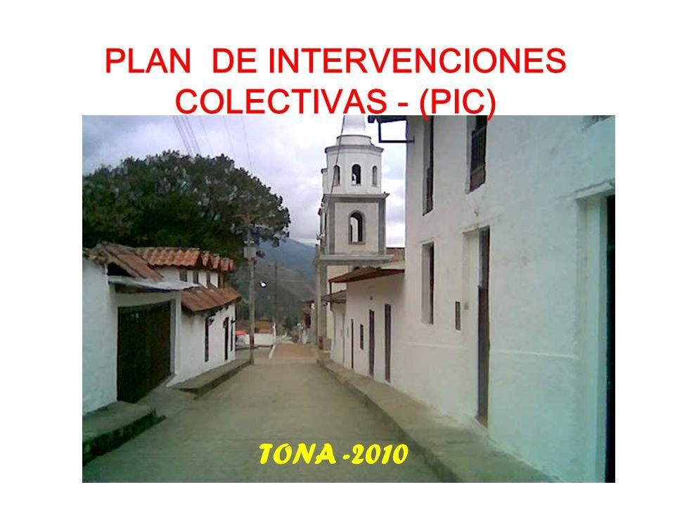 PLAN DE INTERVENCIONES COLECTIVAS - (PIC) TONA -2010