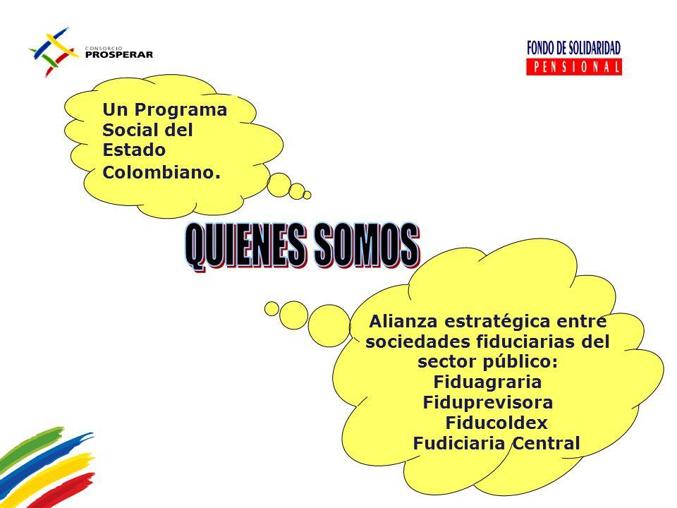 Alianza estratégica entre sociedades fiduciarias del sector público: Fiduagraria Fiduprevisora Fiducoldex Fudiciaria Central Un Programa Social del Es