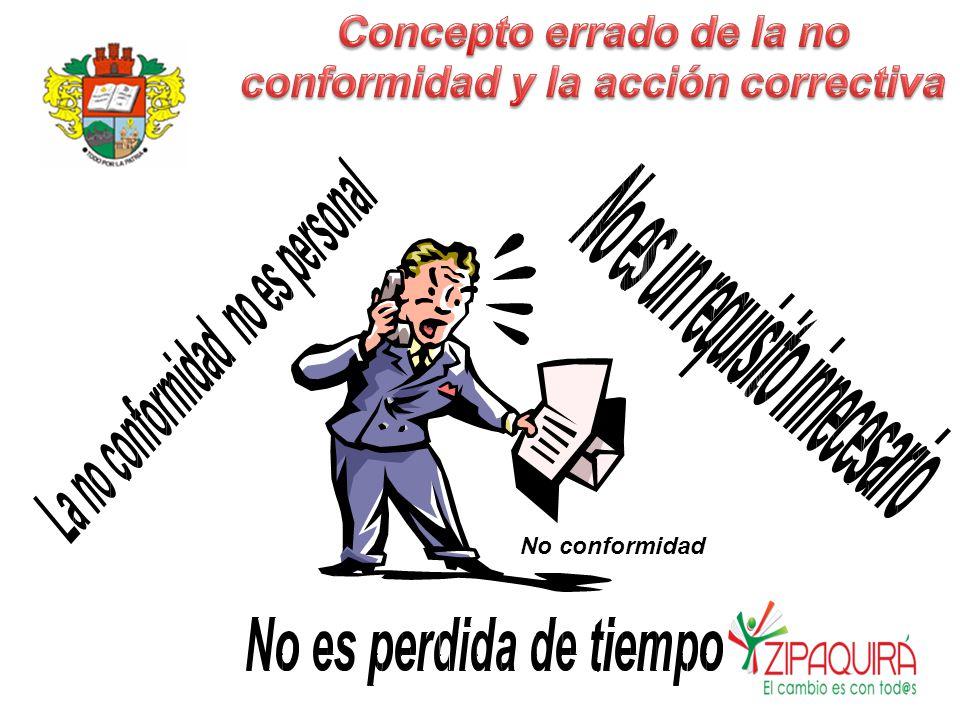 No conformidad